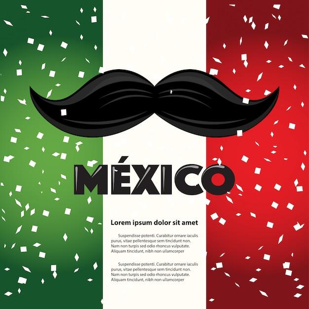 Plantilla de página de bigote de vacaciones mexicanas