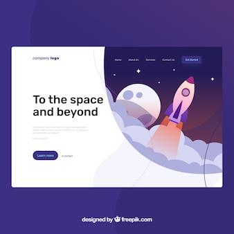 Plantilla página de destino con concepto de startup