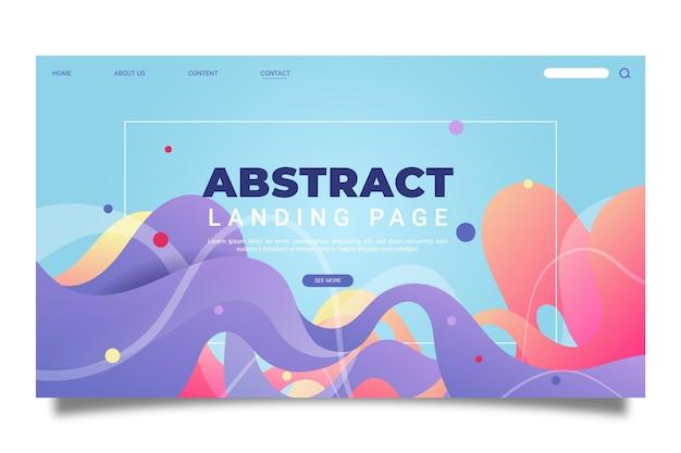 Plantilla de página de destino abstracta