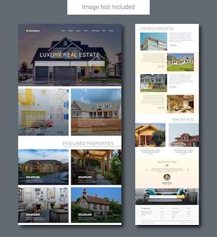 Plantilla de página de destino de agencia inmobiliaria