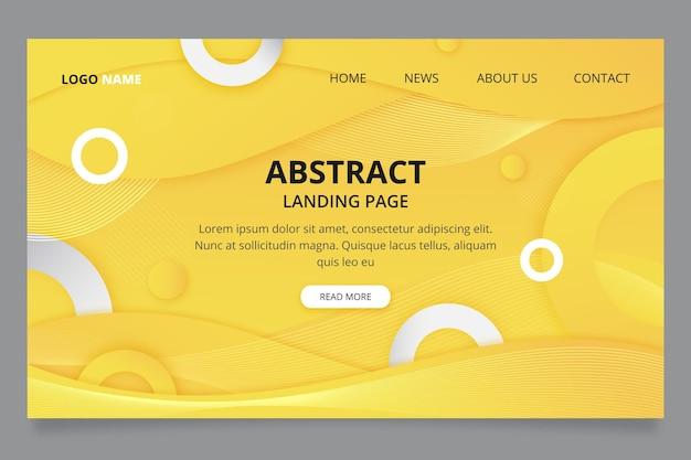 Plantilla de página de destino amarilla y gris