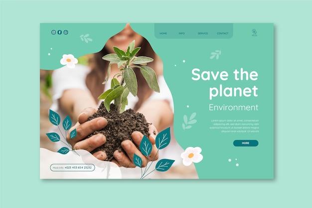 Plantilla de página de destino ambiental