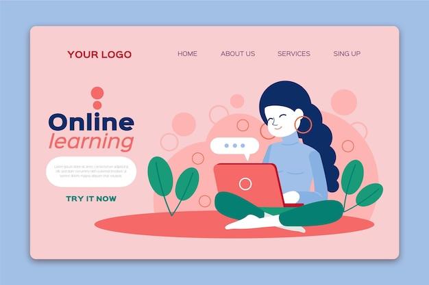 Plantilla de página de destino de aprendizaje en línea