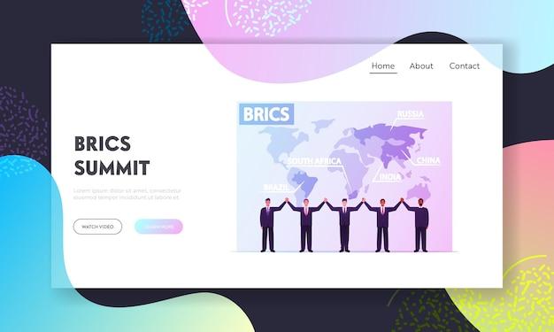 Plantilla de página de destino de la asociación brics.