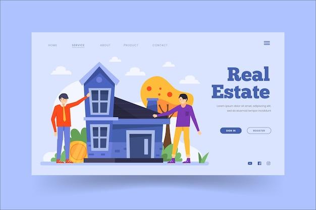 Plantilla de página de destino de bienes raíces