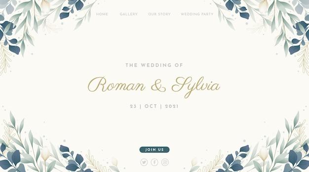 Plantilla de página de destino para boda