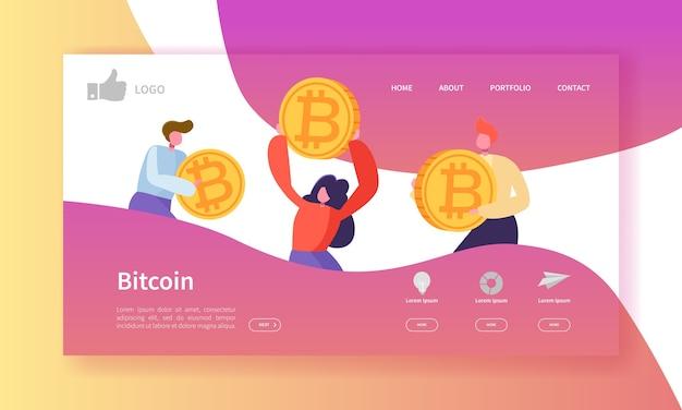 Plantilla de página de destino de cambio de moneda criptográfica