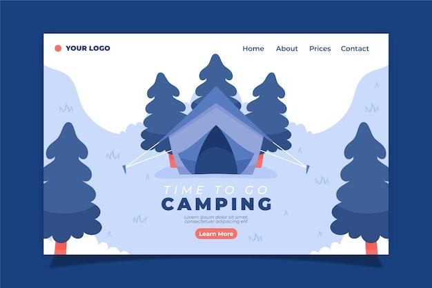 Plantilla de página de destino de camping