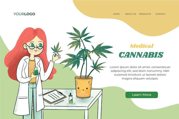 Plantilla de página de destino de cannabis medicinal