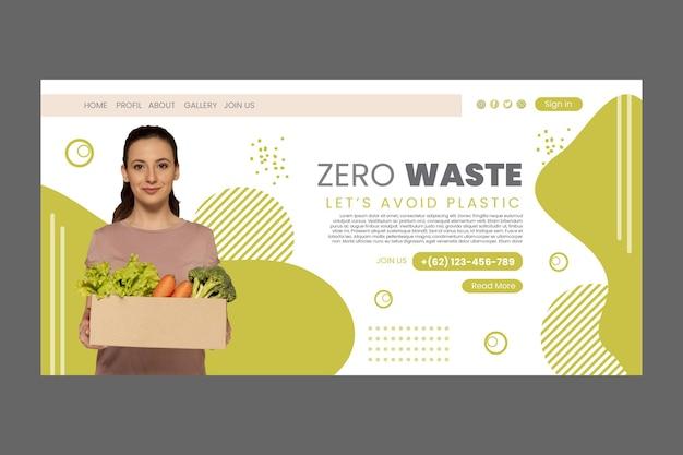 Plantilla de página de destino cero wastee