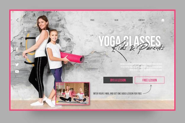 Plantilla de página de destino de clases de yoga para todos