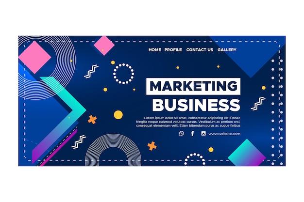 Plantilla de página de destino comercial de marketing