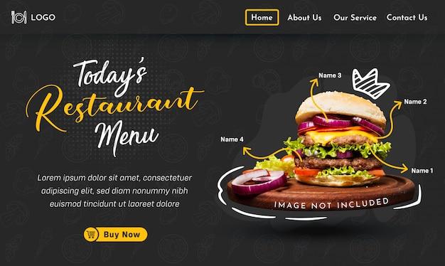 Plantilla de página de destino de comida rápida