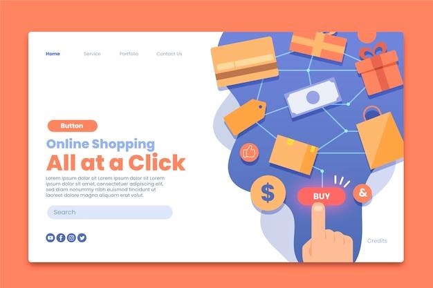 Plantilla de página de destino de compra en línea