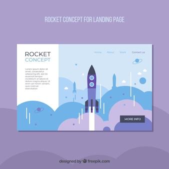 Plantilla página de destino con concepto de negocios startup