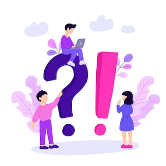 Plantilla de página de destino del concepto de preguntas frecuentes.