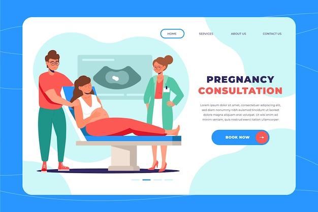 Plantilla de página de destino de consulta de embarazo