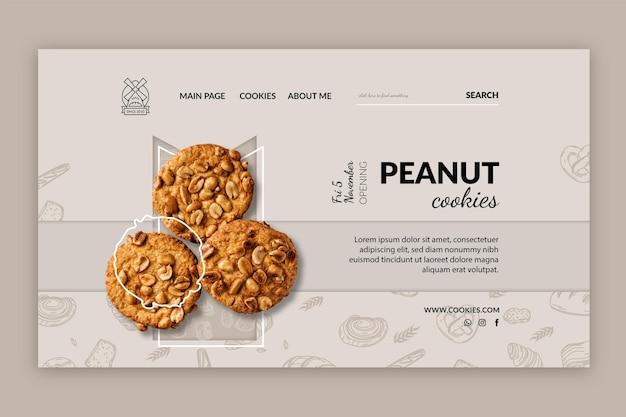 Plantilla de página de destino de cookies