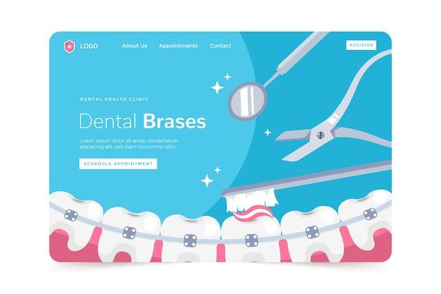 Plantilla de página de destino de cuidado dental