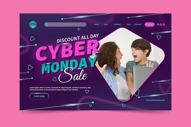 Plantilla de página de destino de cyber monday