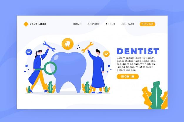 Plantilla de página de destino para dentista