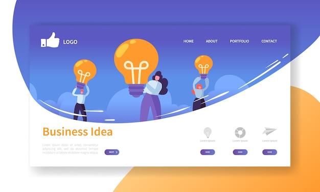 Plantilla de página de destino de desarrollo de sitios web