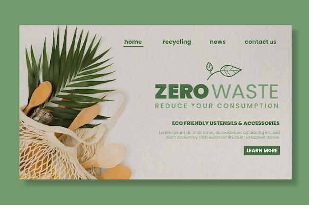 Plantilla de página de destino de desperdicio cero