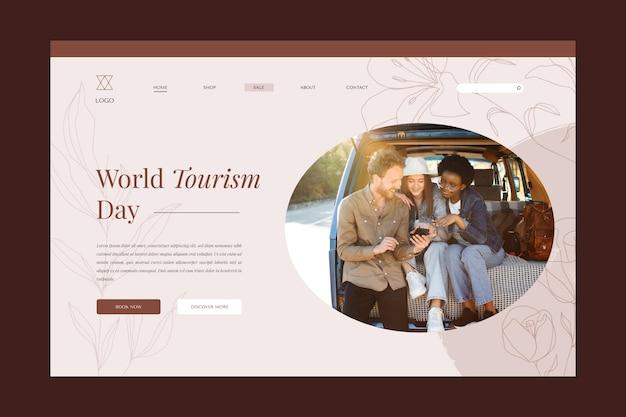 Plantilla de página de destino del día mundial del turismo