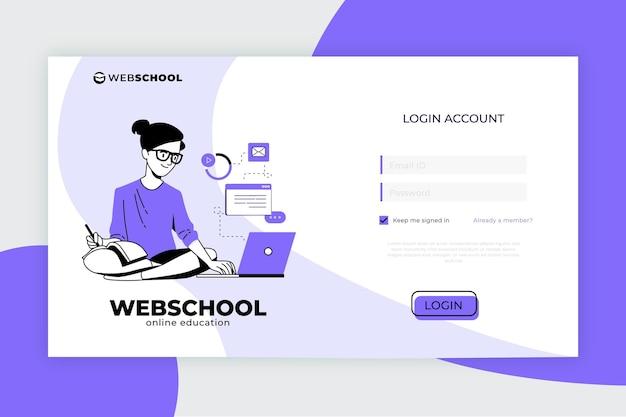 Plantilla de página de destino de e-learning