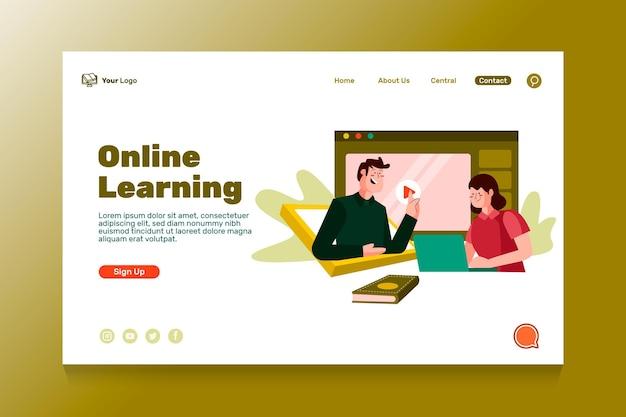 Plantilla de página de destino de educación en línea