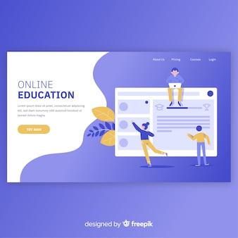 Plantilla de página de destino de educación online