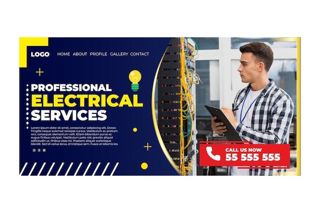 Plantilla de página de destino de electricista