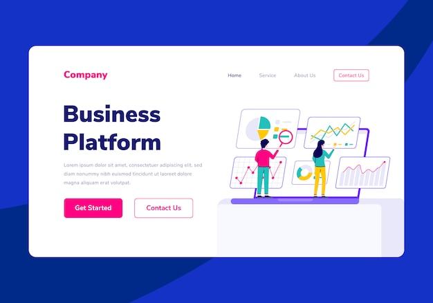 Plantilla de página de destino empresarial