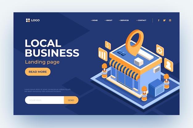 Plantilla de página de destino de empresas locales