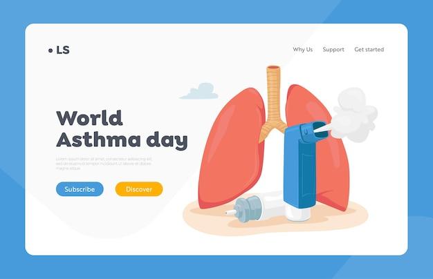 Plantilla de página de destino de la enfermedad del asma