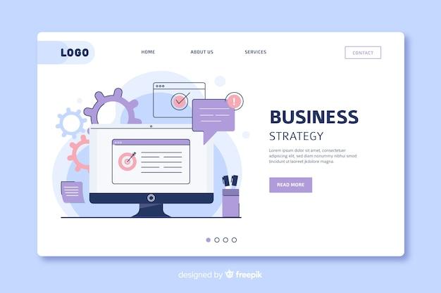 Plantilla de página de destino de estrategia empresarial