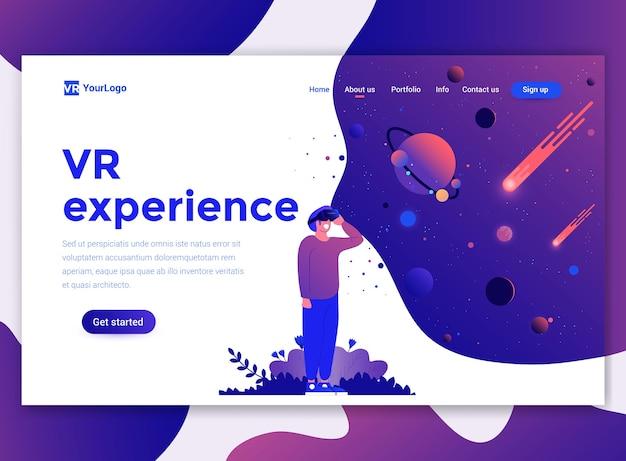 Plantilla de página de destino de la experiencia de realidad virtual