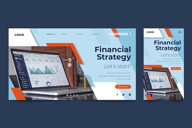 Plantilla de página de destino financiera