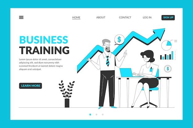 Plantilla de página de destino de formación empresarial