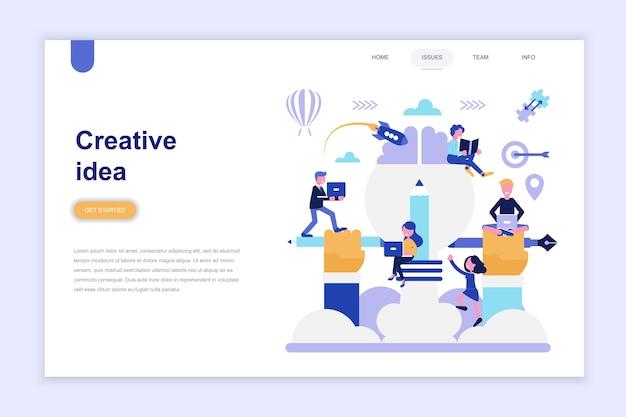 Plantilla de página de destino de idea creativa
