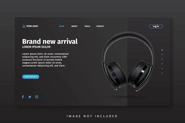 Plantilla de página de destino de llegada de nuevos productos en línea