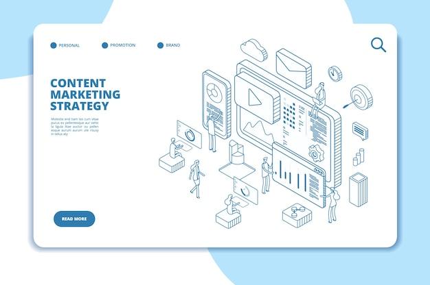 Plantilla de página de destino de marketing de contenido