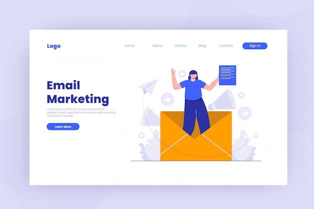 Plantilla de página de destino de marketing por correo electrónico