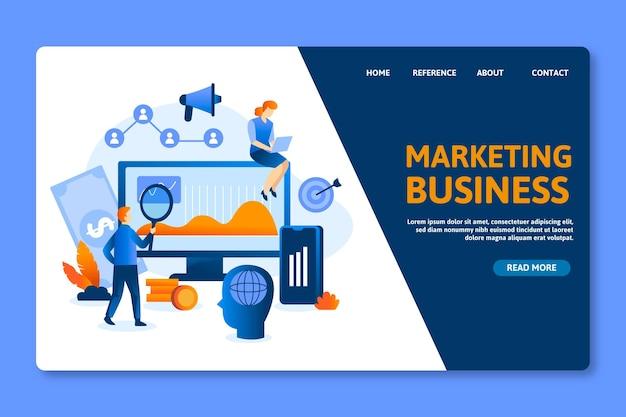 Plantilla de página de destino de marketing empresarial seo