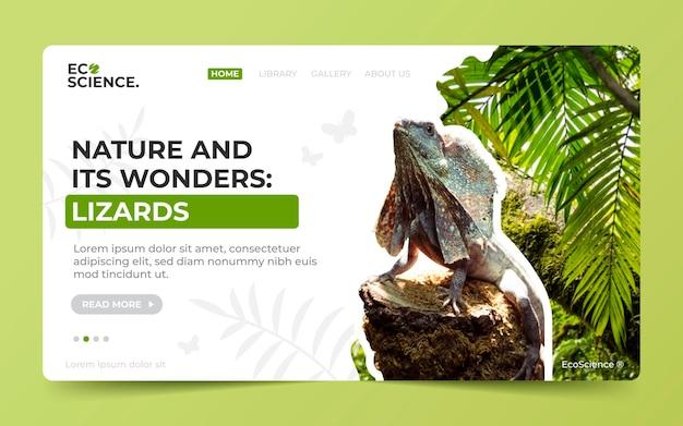 Plantilla de página de destino de naturaleza