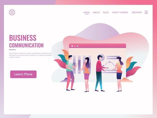 Plantilla de página de destino de negocio digital