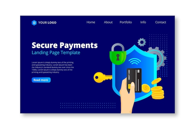 Plantilla de página de destino de pago seguro