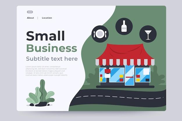 Plantilla de página de destino para pequeñas empresas