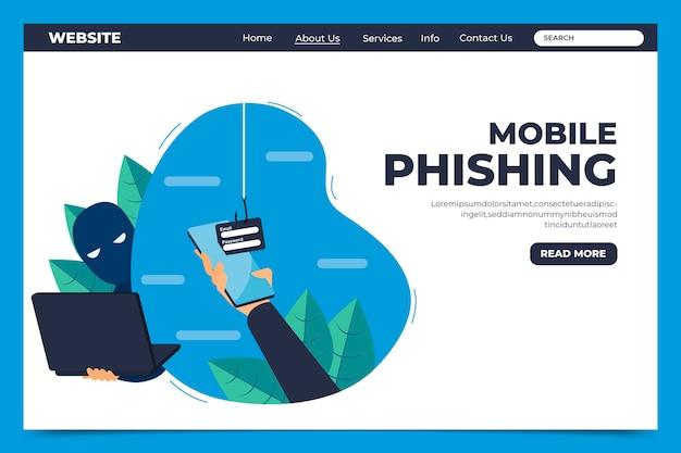 Plantilla de página de destino de phishing móvil