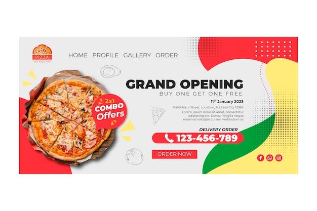 Plantilla de página de destino de restaurante de pizza